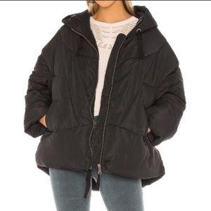 Free People Black Hailey Puffer Jacket Medium NWT